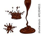 a set of chocolate. vector... | Shutterstock .eps vector #691334011