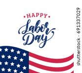vector labor day greeting or... | Shutterstock .eps vector #691337029