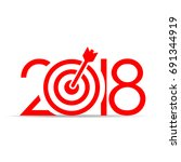 reach your goals in 2018 new... | Shutterstock .eps vector #691344919