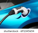 electric car concept   charging ... | Shutterstock . vector #691345654