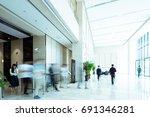 interior of modern entrance hall | Shutterstock . vector #691346281