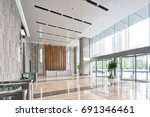 interior of modern entrance... | Shutterstock . vector #691346461