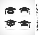 graduation university square... | Shutterstock .eps vector #691348255