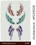wings for your vintage design.... | Shutterstock .eps vector #69135028