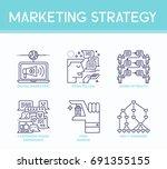 marketing strategy illustration ... | Shutterstock .eps vector #691355155