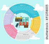 airport infographic   Shutterstock .eps vector #691358005
