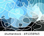 abstract geometric mosaic... | Shutterstock .eps vector #691358965