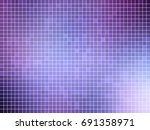 abstract square pixel mosaic... | Shutterstock .eps vector #691358971