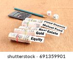 investment in indian rupees in... | Shutterstock . vector #691359901