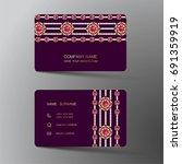 luxurious indian business card  ... | Shutterstock .eps vector #691359919