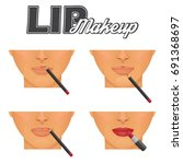 how to make perfect lips... | Shutterstock .eps vector #691368697