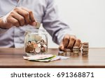 save money and account banking... | Shutterstock . vector #691368871