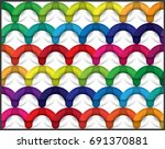 colorful curve abstract... | Shutterstock .eps vector #691370881