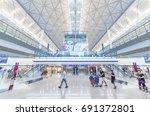 hong kong  china   may 30  ... | Shutterstock . vector #691372801