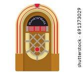jukebox icon. cartoon... | Shutterstock . vector #691373029