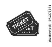 ticket vector icon | Shutterstock .eps vector #691375591