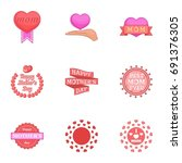 happy mama day icons set....   Shutterstock . vector #691376305