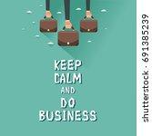 hands of businessmen holding... | Shutterstock .eps vector #691385239
