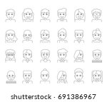 character avatar or people line ... | Shutterstock .eps vector #691386967