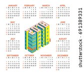 calendar for 2018 year with...