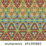 colorful triangle pattern in... | Shutterstock .eps vector #691390885