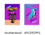 colorful international jazz... | Shutterstock .eps vector #691392991