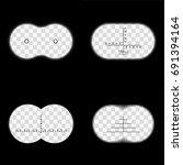 binoculars field of view with...   Shutterstock .eps vector #691394164