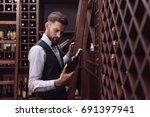 portrait of young handsome... | Shutterstock . vector #691397941