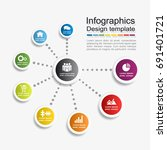 infographic template. can be... | Shutterstock .eps vector #691401721