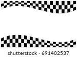 checkered flag. racing flag... | Shutterstock .eps vector #691402537