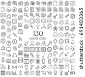 vector linear icon set | Shutterstock .eps vector #691403365