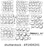 vector collection of hand drawn ... | Shutterstock .eps vector #691404241