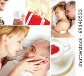 collage of loving couple with... | Shutterstock . vector #69140533
