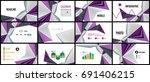 modern triangle presentation... | Shutterstock .eps vector #691406215