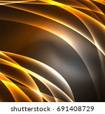 energy lines  glowing waves in... | Shutterstock .eps vector #691408729