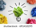 new idea concept. colorful... | Shutterstock . vector #691410295