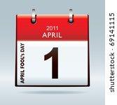 April Fools Day Calendar Icon...