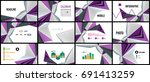 modern triangle presentation... | Shutterstock . vector #691413259