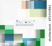 abstract blocks template design ... | Shutterstock . vector #691414861