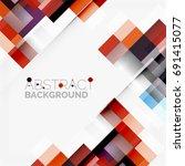 abstract blocks template design ... | Shutterstock . vector #691415077