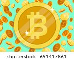 bitcoin financial system grows. ... | Shutterstock .eps vector #691417861