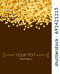 vector greeting card with gold... | Shutterstock .eps vector #691421215