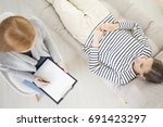 psychotherapy concept  high...   Shutterstock . vector #691423297