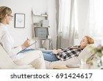 mental health concept   patient ... | Shutterstock . vector #691424617