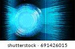 future technology  blue cyber...   Shutterstock .eps vector #691426015