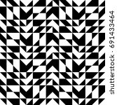 black geometric pattern of... | Shutterstock .eps vector #691433464