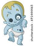 happy zombie baby   Shutterstock .eps vector #691444465