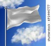 clean white horizontal waving... | Shutterstock .eps vector #691444777