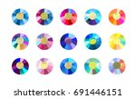 collection of shine colorful... | Shutterstock . vector #691446151