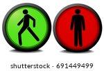pedestrian traffic lights with...   Shutterstock .eps vector #691449499